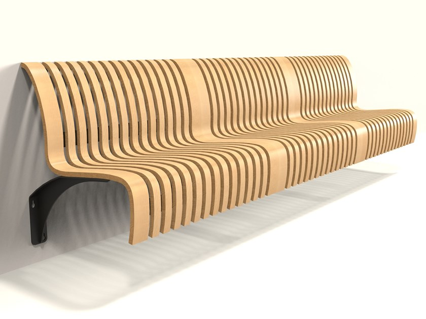 Wall-Mounted bench seating with back NOVA C WALL by Green Furniture Concept