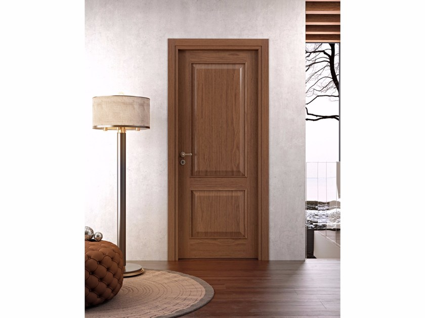 Hinged wooden door NOVA CASTELLO by Pail Serramenti