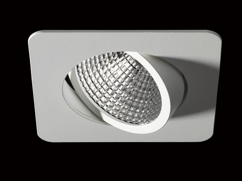 Faretto a LED orientabile in alluminio verniciato a polvere da incasso NOVA FLEX by LUNOO