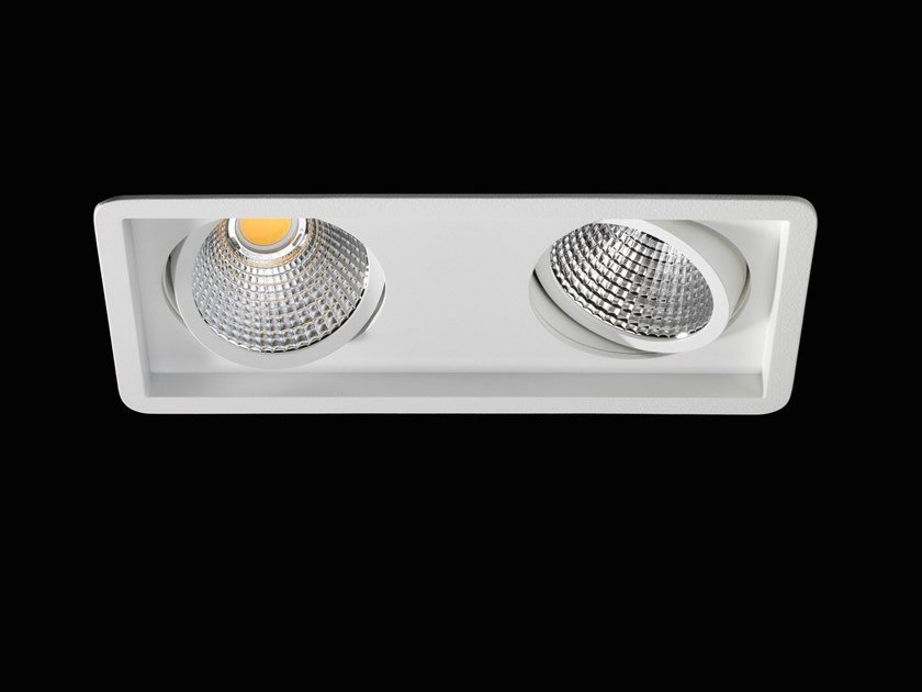 Faretto a LED multiplo in alluminio verniciato a polvere da incasso NOVA II FLEX by LUNOO