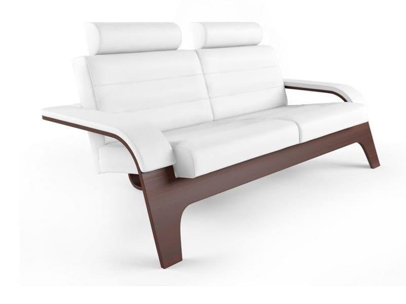 Leather small sofa NOVA by ROCHE BOBOIS