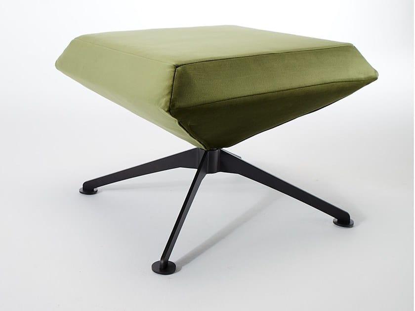 Upholstered fabric stool with 4-spoke base NOVA | Stool by VERFO LAB