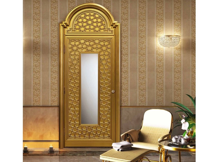 Hinged gold leaf door NOVAE by Arnaboldi Interiors