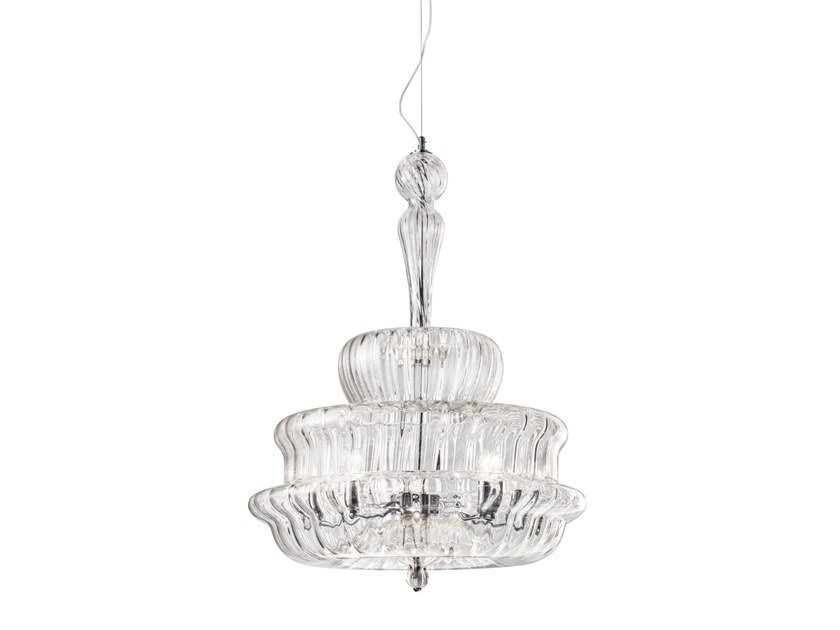 Crystal pendant lamp NOVECENTO SP by Vetreria Vistosi