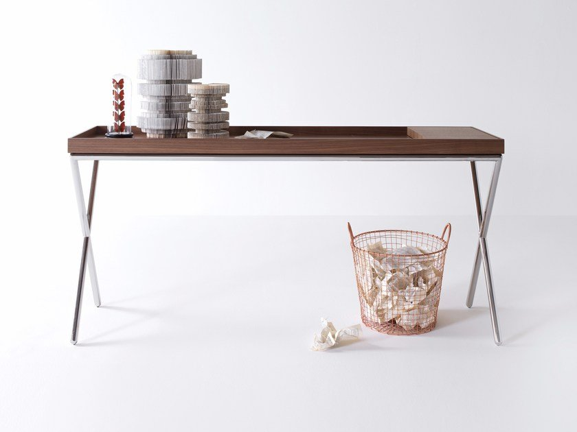Rectangular wooden console table NOVEL by Lema