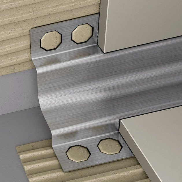 Antibacterial edge profile for floors for walls NOVOESCOCIA® PLUS STAINLESS STEEL by EMAC Italia