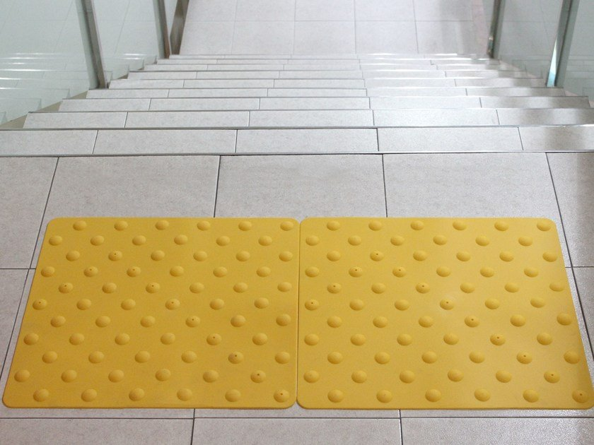 Indoor/outdoor polyurethane Tactile paving NOVOGRIP ACCES by EMAC Italia