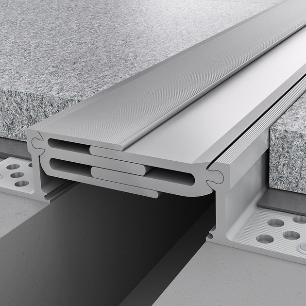 Aluminium Flooring joint NOVOJUNTA PRO® METAL125   Aluminium Flooring joint by EMAC Italia