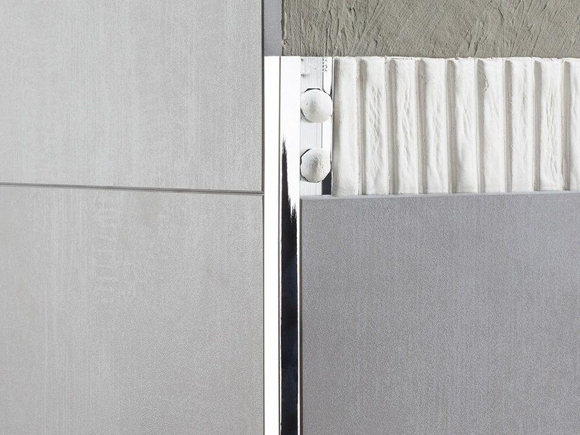 Decorative edge profile NOVOLISTEL®  3 CHROMED by EMAC Italia
