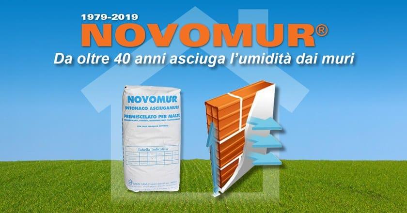 NOVOMUR® Novomur da oltre 40 anni asciuga l'umidità dai muri