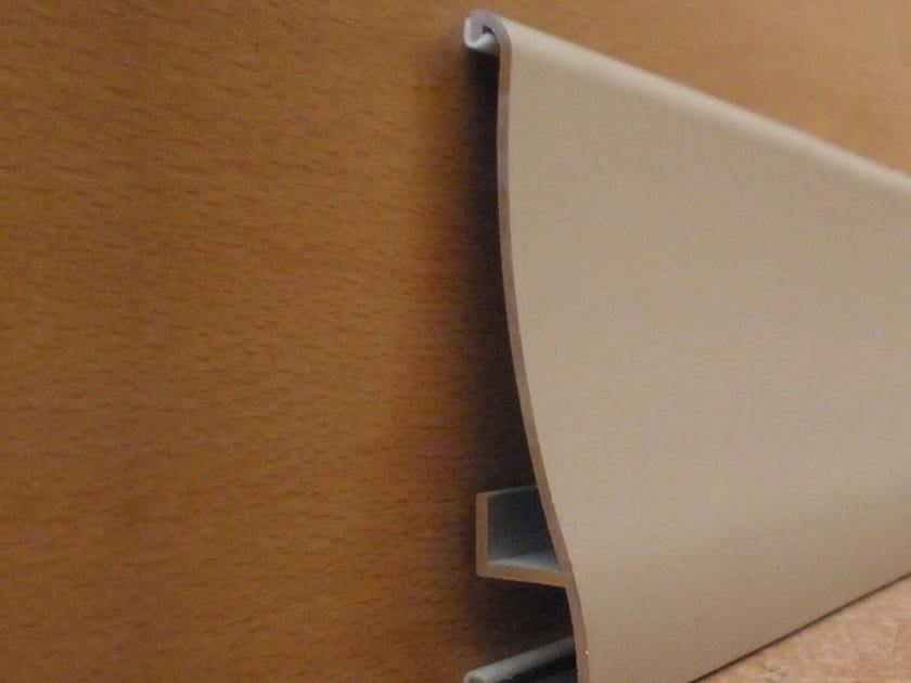 Battiscopa in alluminio NOVORODAPIE ALUMINUM ACOUSTIC ISOLATION by EMAC Italia