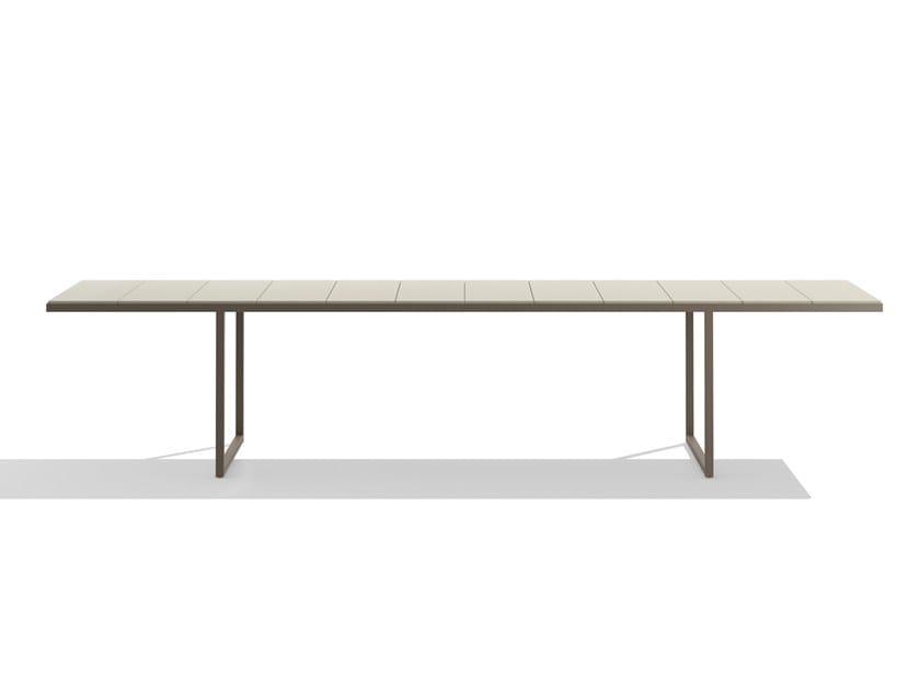 Rectangular lava stone garden table NOX by TRIBÙ