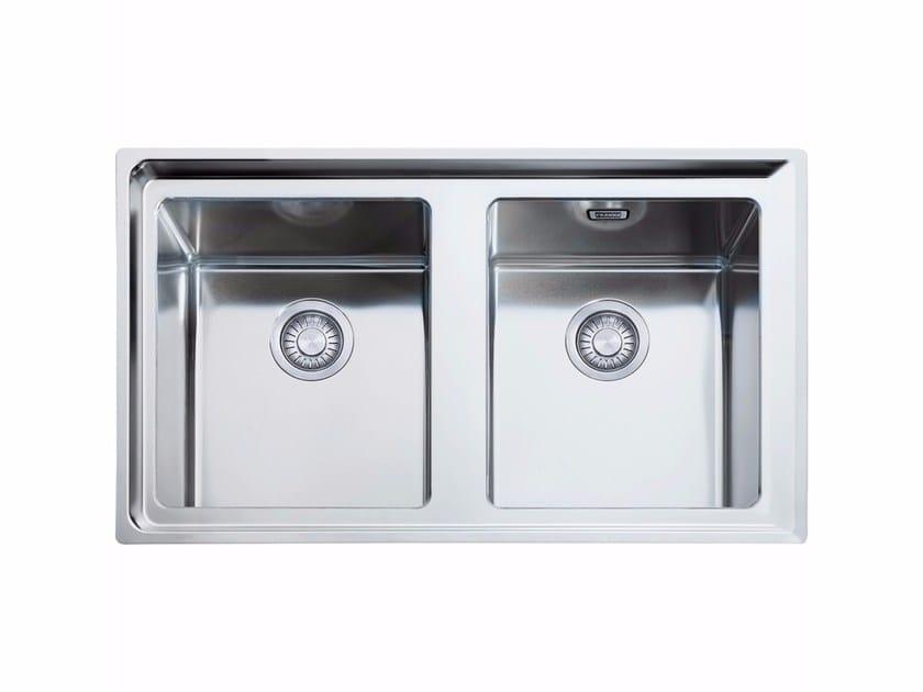 Lavello a 2 vasche in acciaio inox NPX 620 by FRANKE