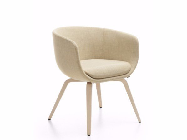 Upholstered fabric chair with armrests NU 10HW/20HW by profim