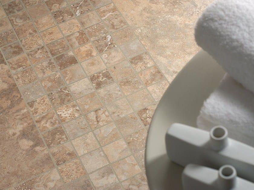 Ceramic mosaic NU_TRAVERTINE CONTROFALDA   Mosaic by Ceramica Fioranese