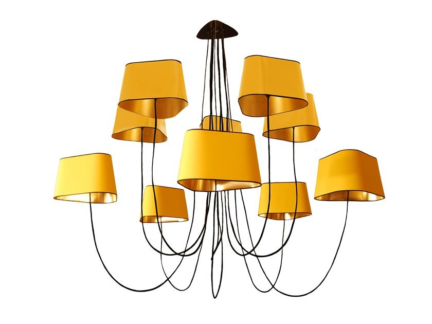 LED fabric chandelier NUAGE 10 | Chandelier by designheure