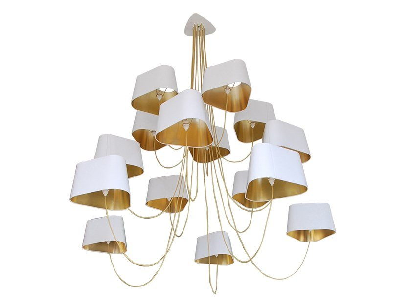 LED fabric chandelier NUAGE 15 | Chandelier by designheure