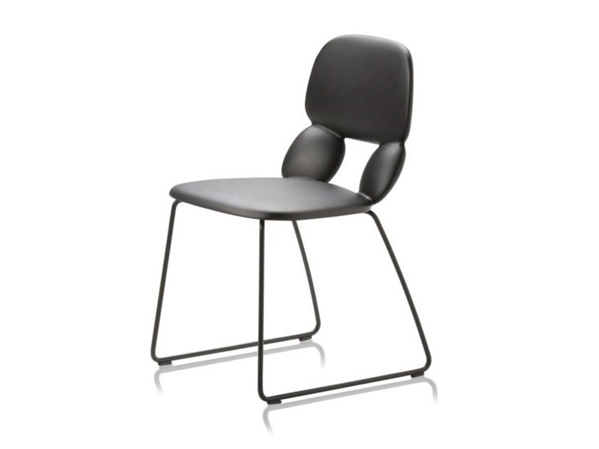 Sled base polyurethane chair NUBE SL by CHAIRS & MORE