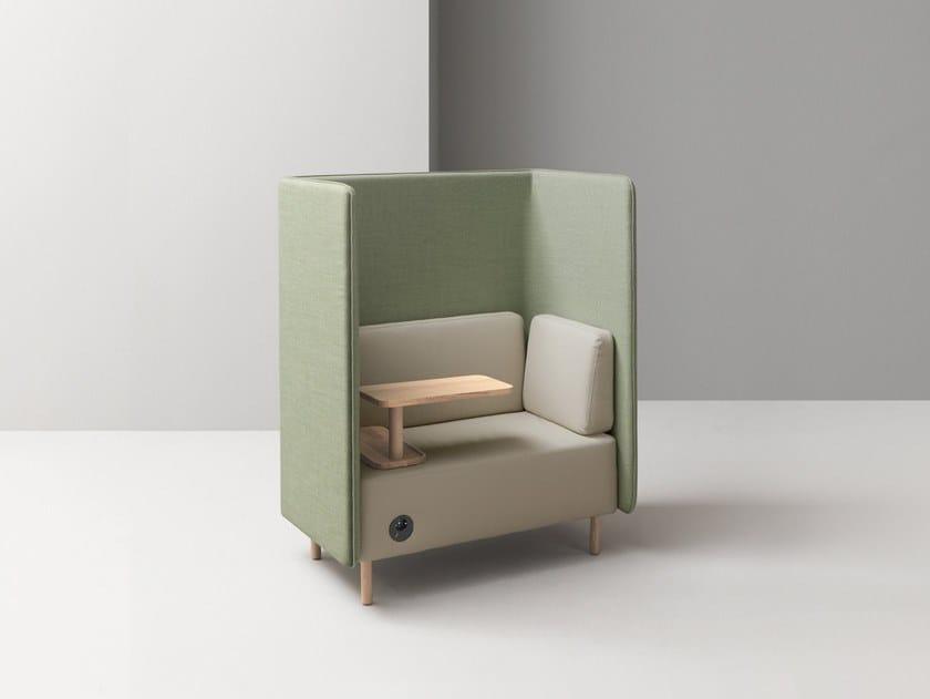 High-back fabric armchair NUCLEO | Armchair by Martex