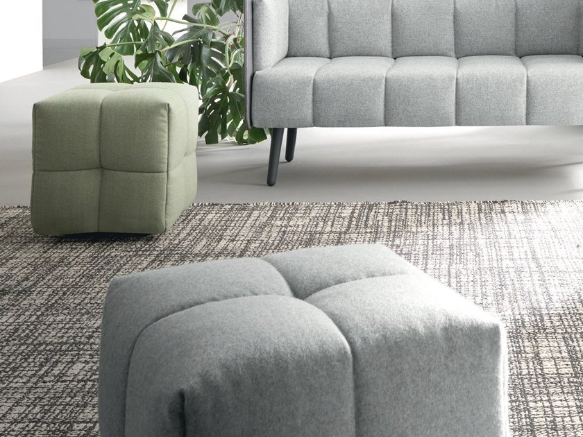 Square fabric pouf NUCLEO | Pouf by Martex