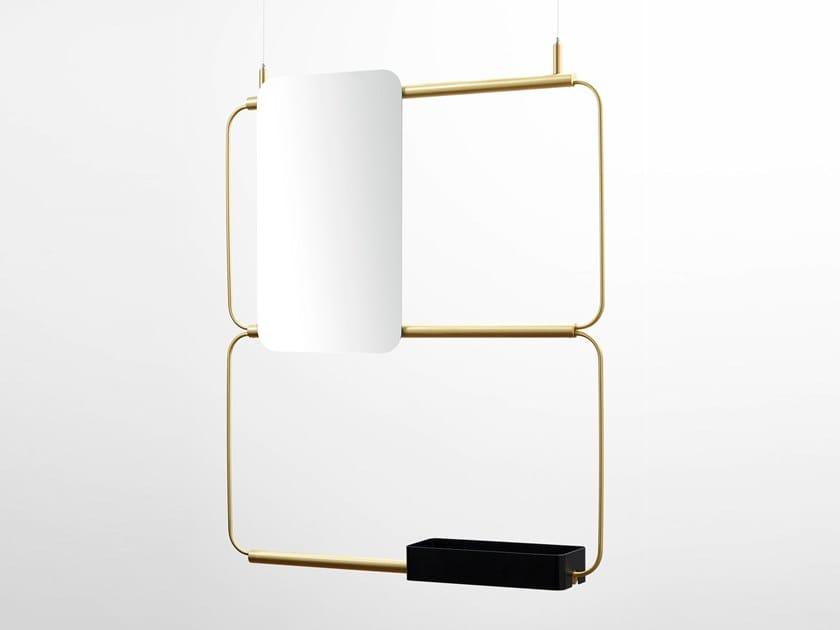 Bathroom mirror with shelf NUDO | Mirror with shelf by Ex.t