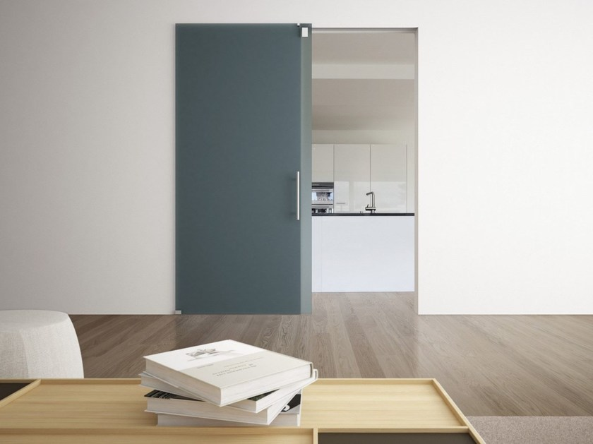 Glass sliding door NULL SOFTMIRROR by FOA