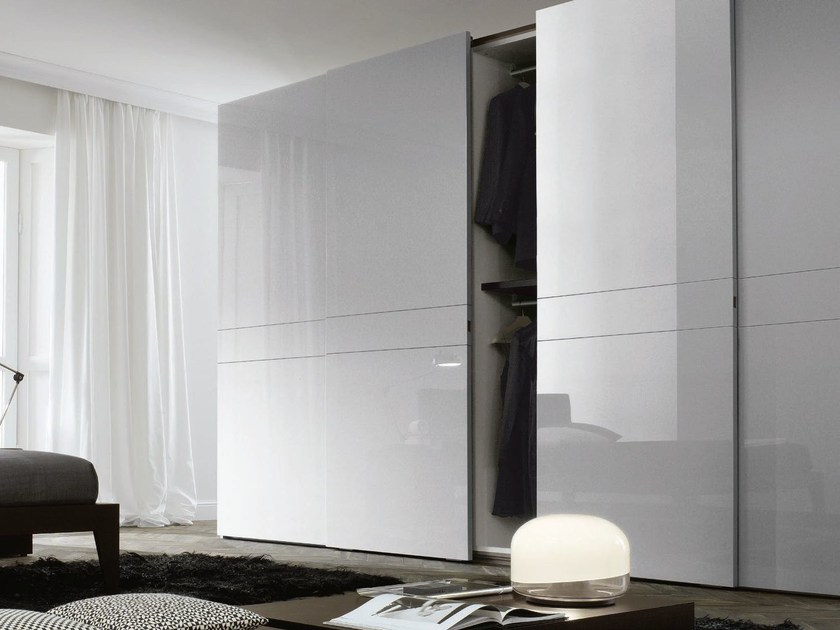 Lacquered wardrobe with sliding doors NUMA by JESSE