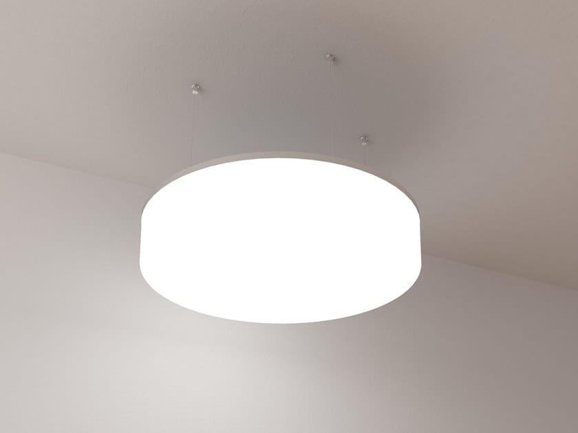 Lampada a sospensione a LED in PMMA NUMA T by Makris