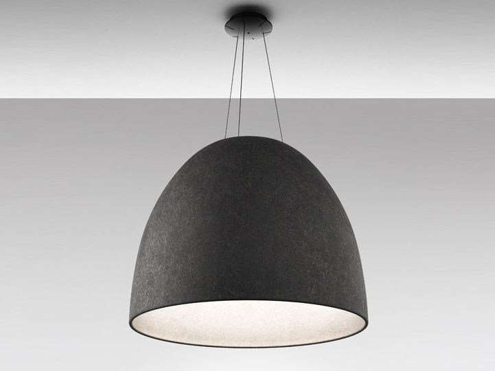 LED direct light polyethylene pendant lamp NUR 1618 ACOUSTIC by Artemide