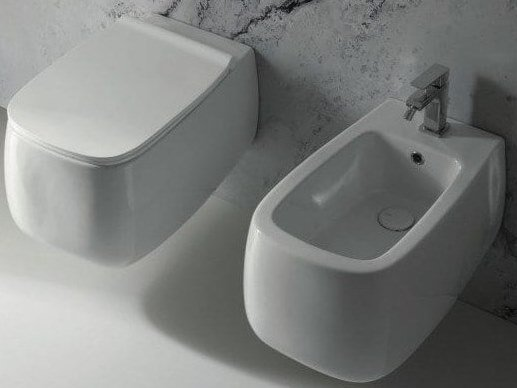 Wall-hung ceramic toilet NUR | Wall-hung toilet by Alice Ceramica