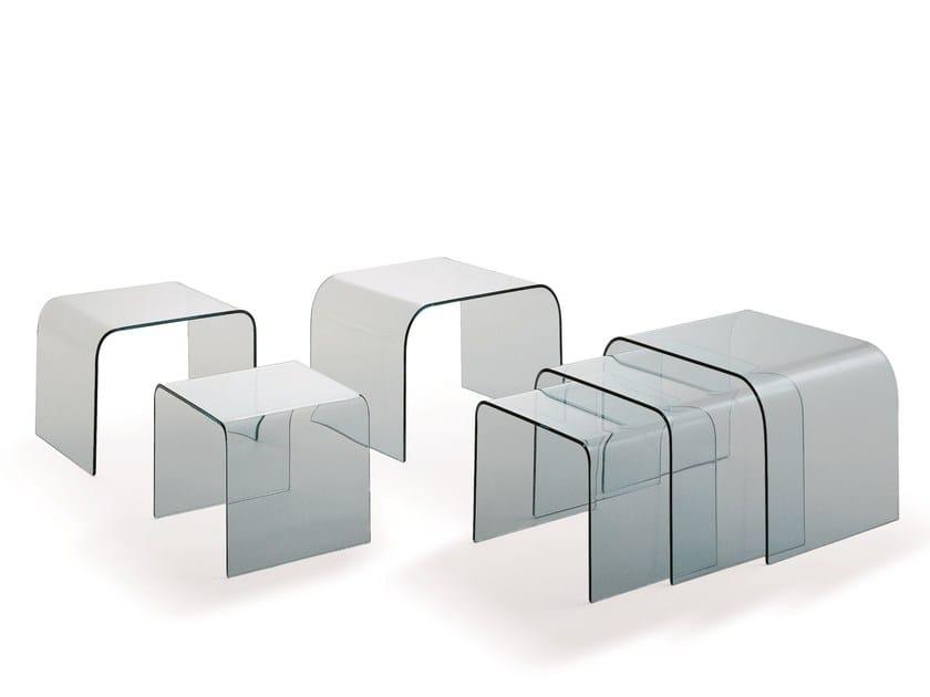 Glass coffee table NURGLAS by Draenert