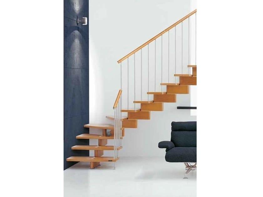 Modular beech Open staircase NUVOLA CZ by MOBIROLO