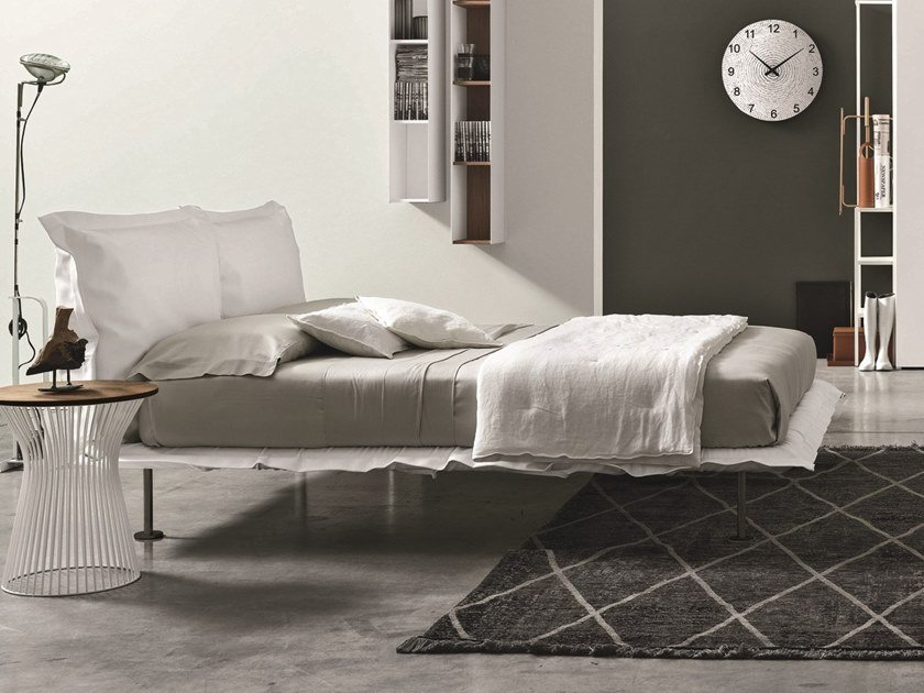 Fabric double bed with upholstered headboard NUVOLA by Gruppo Tomasella