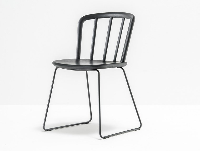 Sled base ash chair NYM 2850 by PEDRALI