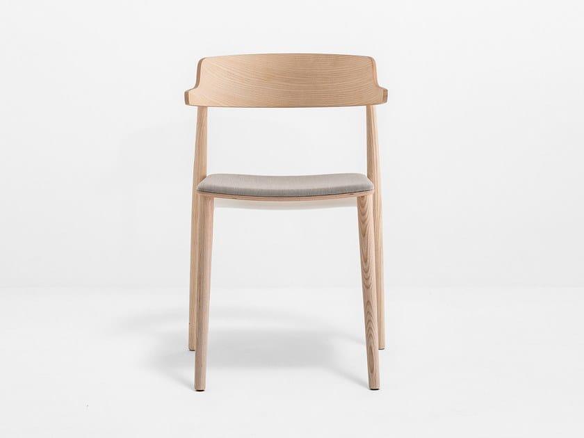 Upholstered restaurant chair NEMEA 2826 by PEDRALI