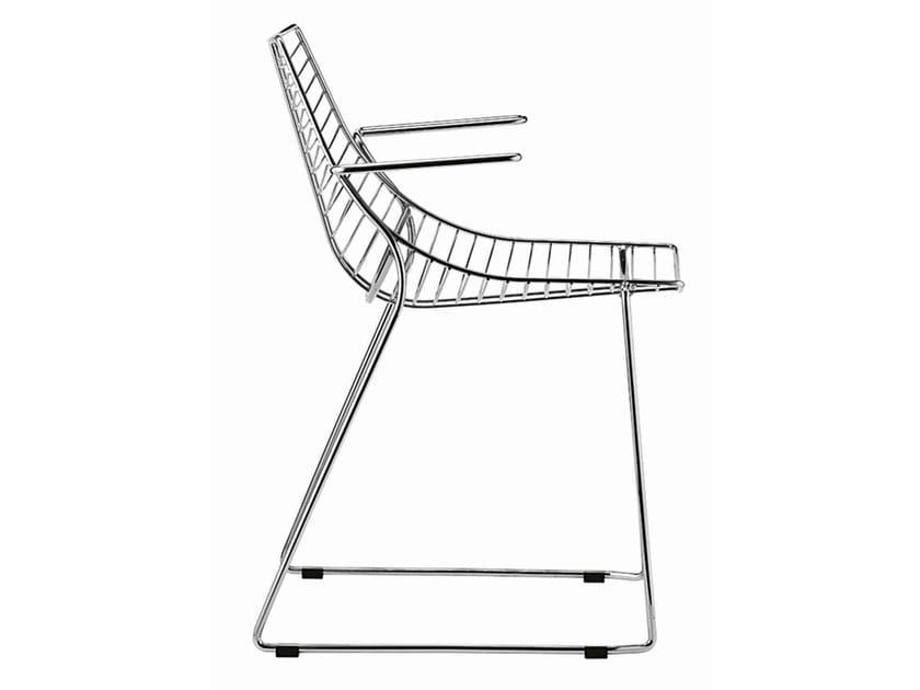 Sled base steel chair Net 097 by Metalmobil