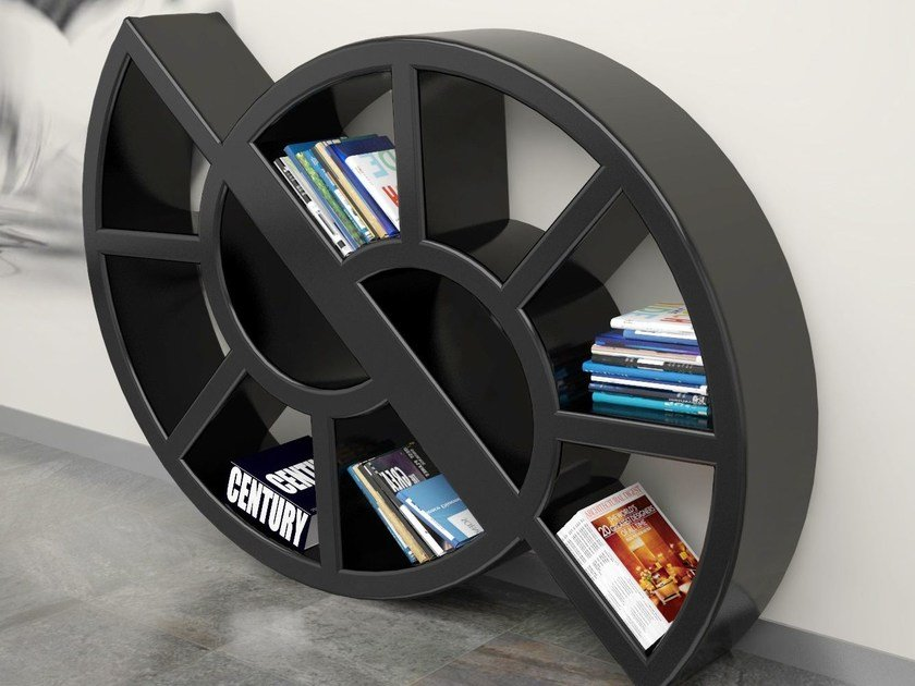Wall-mounted lacquered bookcase NIKKIE   Bookcase by Italy Dream Design