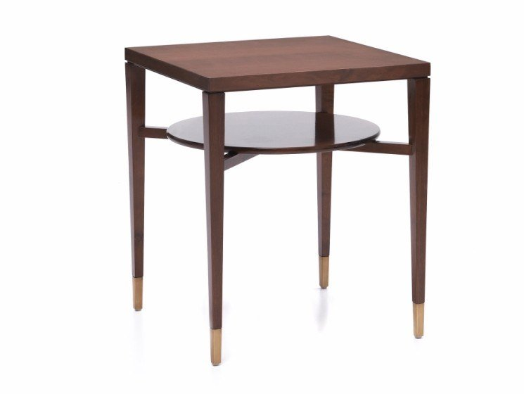 Square cherry wood high side table O 1610 | Coffee table by Annibale Colombo