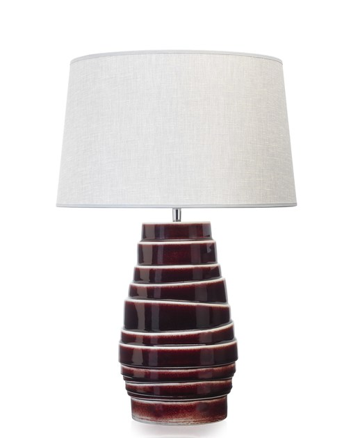 Contemporary style porcelain table lamp O´RING by ENVY