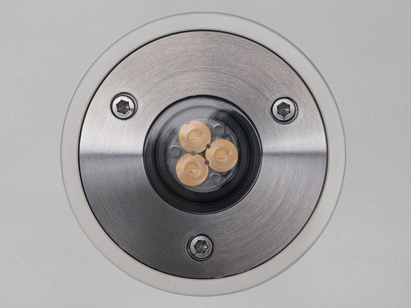 Segnapasso a LED a pavimento in acciaio inox O SPOT 6 by PURALUCE