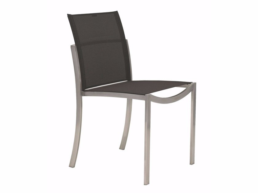 Stackable stainless steel garden chair O-ZON | Chair by ROYAL BOTANIA