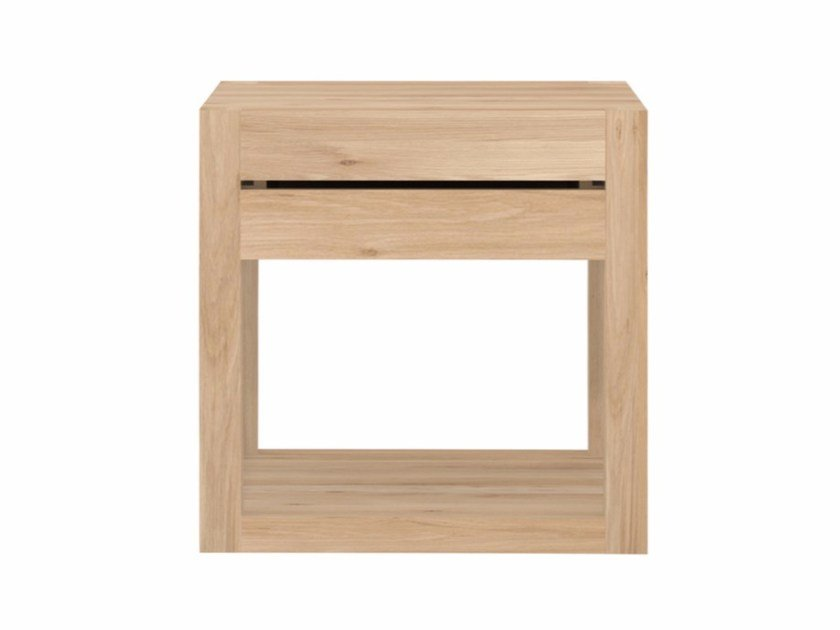 Solid wood bedside table with drawers OAK AZUR | Bedside table by Ethnicraft