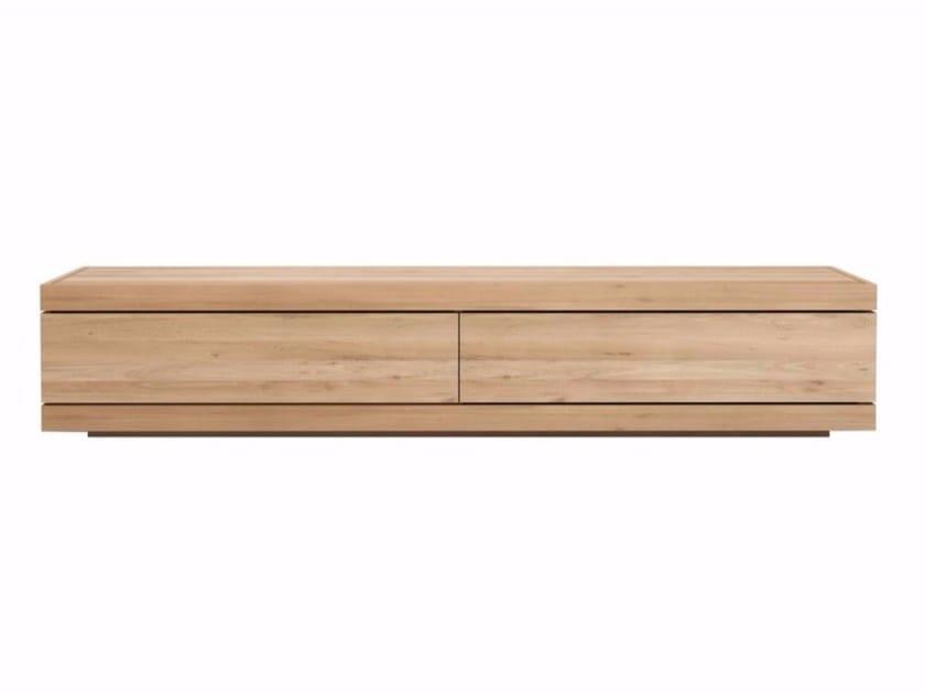 Low oak TV cabinet OAK BURGER | Oak TV cabinet by Ethnicraft