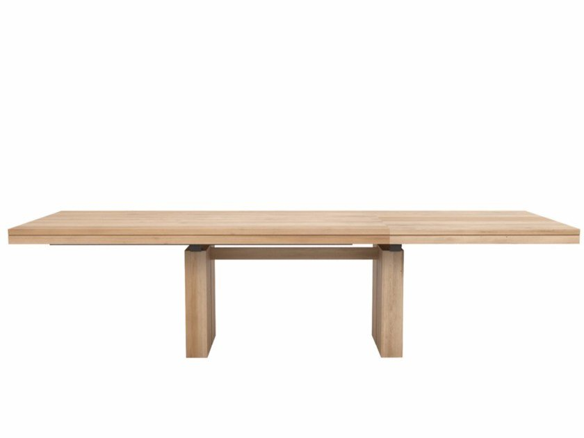 Extending rectangular oak table OAK DOUBLE | Extending table by Ethnicraft