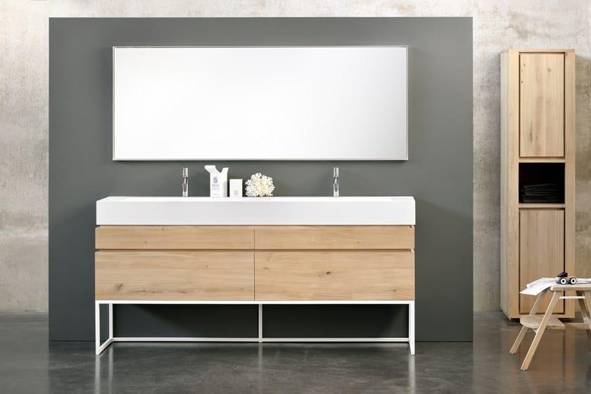 OAK LAYERS | Mobile lavabo doppio