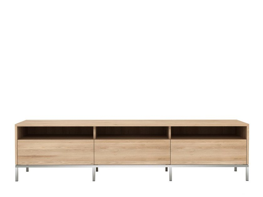 Low oak TV cabinet OAK LIGNA | TV cabinet by Ethnicraft