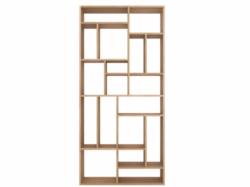 Open solid wood bookcase OAK M-RACK | Bookcase by Ethnicraft