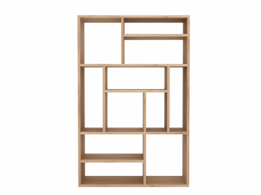 Open Solid Wood Bookcase Oak M Small By Ethnicraft