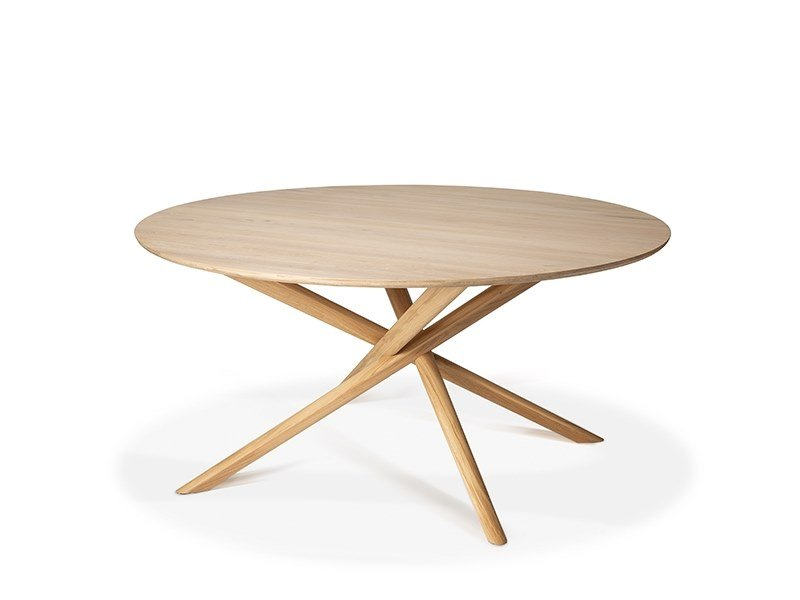 Round oak dining table OAK MIKADO | Round table by Ethnicraft