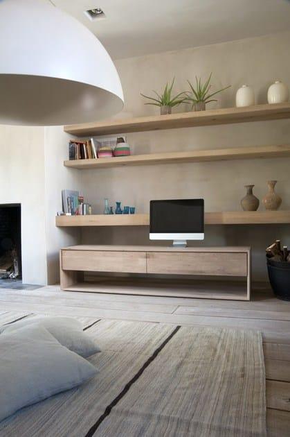 OAK NORDIC | Mobile TV in legno massello